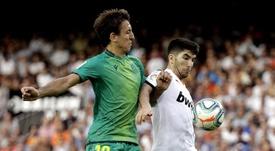 Soler ne pourra pas jouer face au Celta. EFE