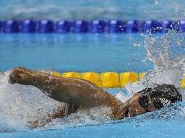 El atleta de Brasil Daniel Dias. EFE/Antonio Lacerda/Archivo
