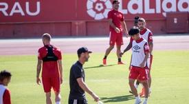 Take Kubo no pudo debutar con el Mallorca ante la Real Sociedad. EFE