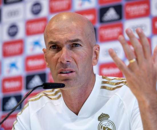 Zidane ha parlato in conferenza stampa. EFE