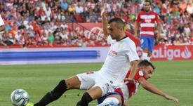 Joan Jordán analizó el triunfo del Sevilla. EFE/Pepe Torres