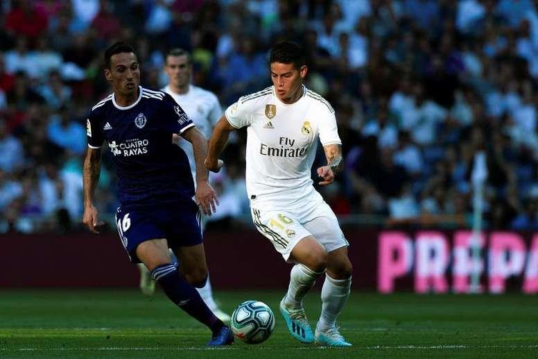 El Madrid necesita a James. EFE