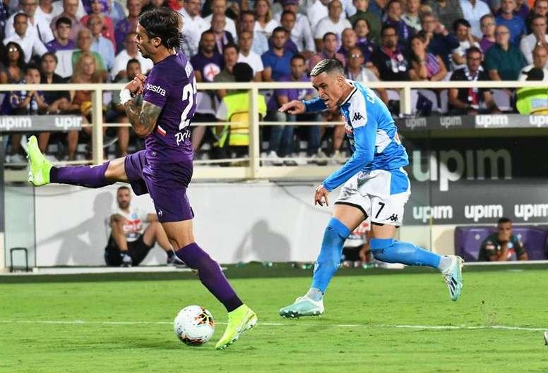 Callejón vive sua sétima temporada no Napoli. EFE/CLAUDIO GIOVANNINI