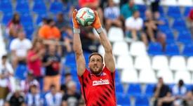 Oblak se encontró con Griezmann en un acto promocional. EFE /Rodrigo Jiménez