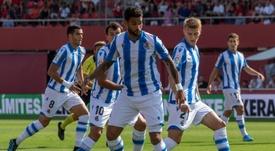 Willian José queda tocado en la Real Sociedad. EFE