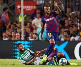 O Barça estuda a renovação de Rafinha. EFE