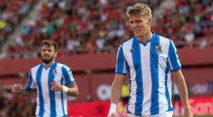 Odegaard ya decide partidos para la Real Sociedad. EFE