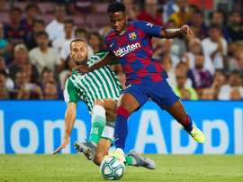 Ansu Fati would earn a million euros if he joins Barcelona's first team. EFE