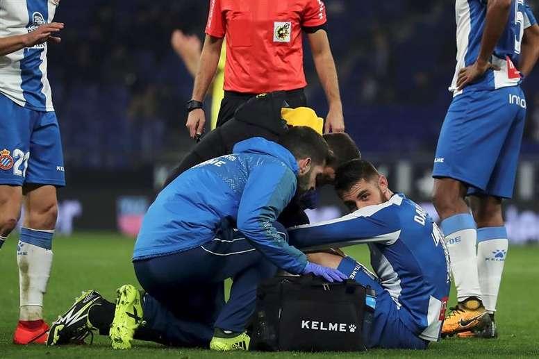 Após febre viral, David López já está a disposição do técnico do Espanyol. EFE/G. Loinaz/Archivo