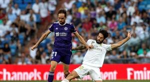 Mesmo derrotado, Michel Herrero elogiou Messi após gols e assistências. EFE/Rodrigo Jiménez