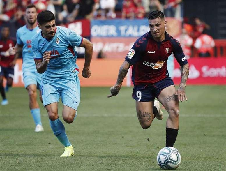 Sergio, con respeto pero sin miedo ante el Atlético. EFE/Jesús Diges