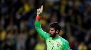Alisson é o melhor goleiro de 2019. EFE/Juan Ignacio Roncoroni