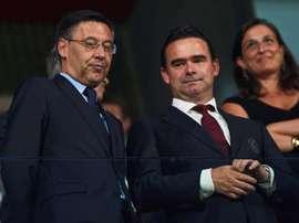 Falam sobre a relação do Barcelona com uma empresa que ataca ex-jogadores. EFE/ Alejandro Garcia