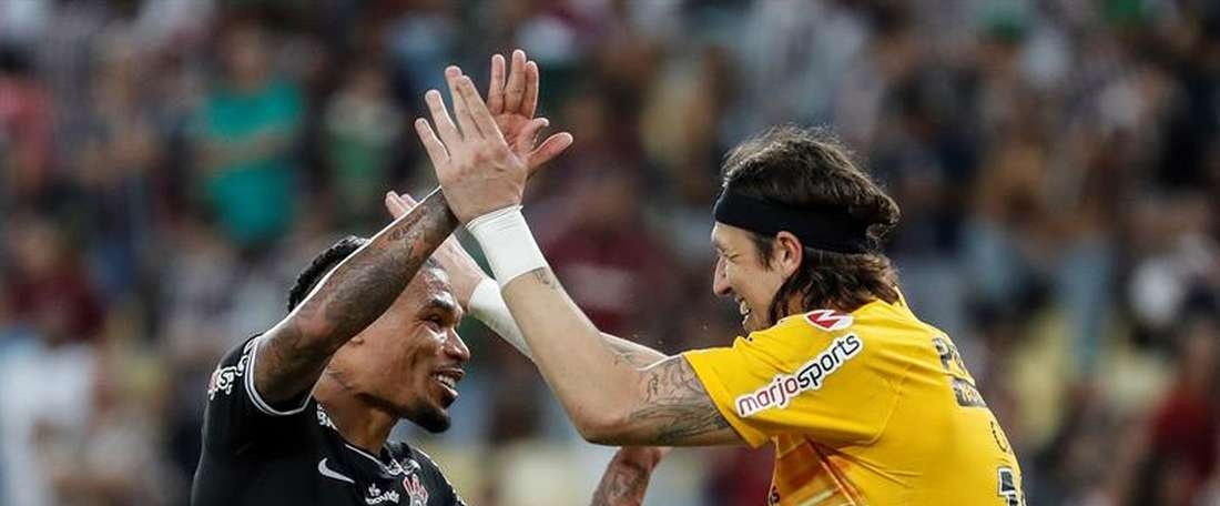 Corinthians sobrevive ao VAR e ao Maraca. EFE/Antonio Lacerda