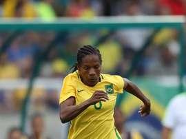Formiga es una de las referentes del fútbol femenino en Brasil. EFE/Archivo