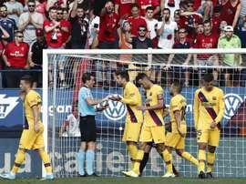 El Barça busca el milagro ante Osasuna. EFE