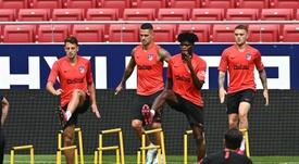 Atlético de Madrid volta a treinar. EFE