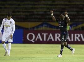 Dájome mete a Independiente del Valle en 'play off'. EFE