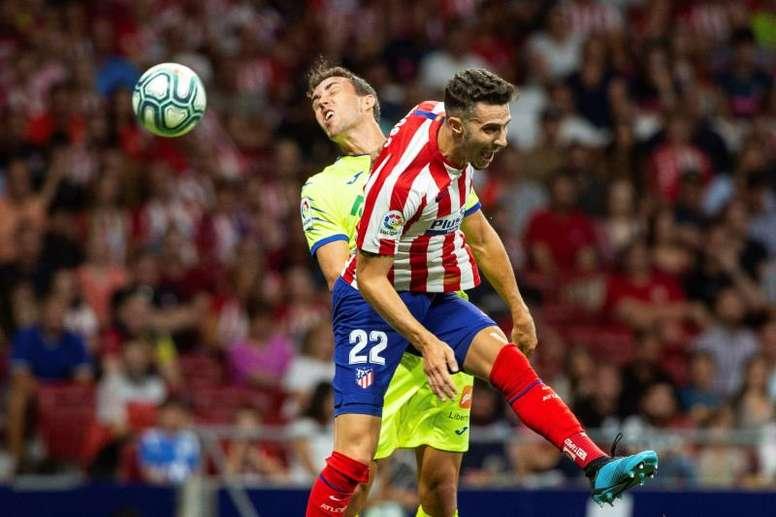 Mario Hermoso no ha logrado hacerse con un sitio en el Atlético de Madrid. EFE