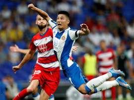 Wu Lei, o primeiro chinês a jogar no Bernabéu. EFE/Toni Albir
