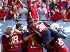 El futbolista de Osasuna fue decisivo ante el Barça. EFE