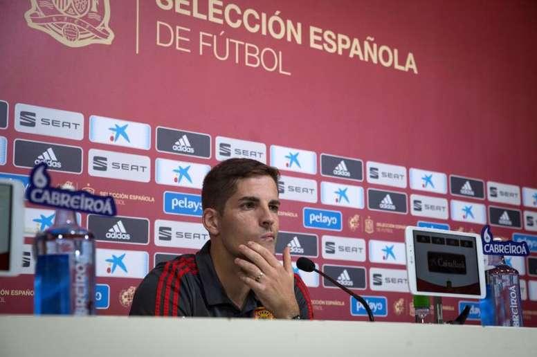 Robert Moreno se enteró de lo de Ramos y los Juegos por la prensa. EFE/Archivo