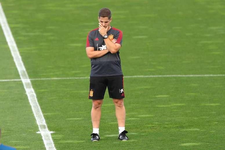 O treinador disse que Ramos ajuda em sua adaptação no comando. EFE/ Juanjo Martín/Archivo