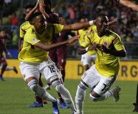 Brasil y Colombia Sub 23 ensayan para Tokio 2020. EFE/Archivo
