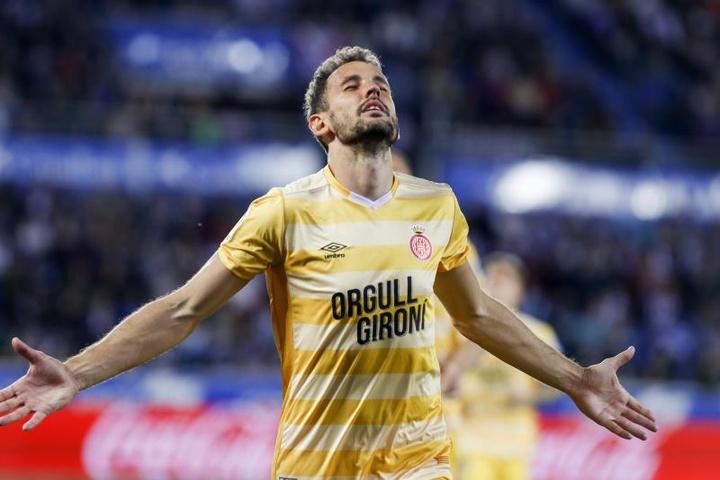 Stuani dio la victoria al Girona. EFE/Archivo