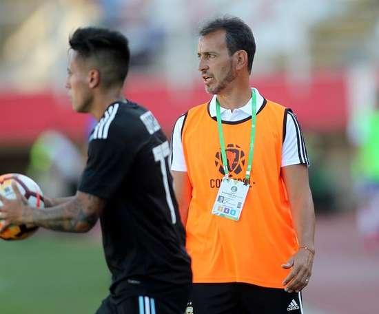 'Manita' de Argentina Sub 23 a Bolivia. EFE/ Esteban Garay