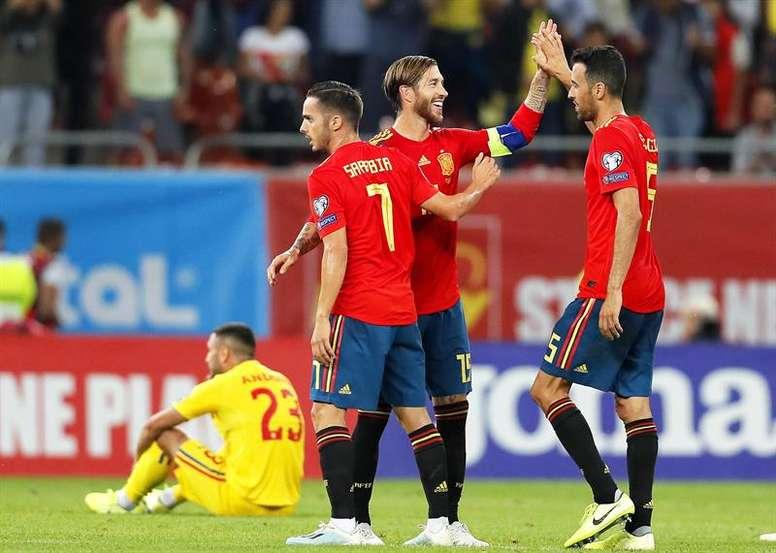Les compos probables du match de qualification à l'Euro entre la Norvège et l'Espagne. AFP