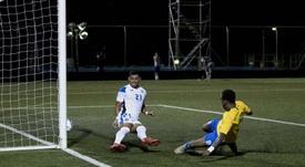 Nicaragua y San Vicente empatan en su debut en la Liga de Naciones. EFE/JorgeTorres