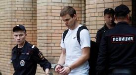 Alexandr Kokorin (c) lleva en prisión desde mayo. EFE/Archivo