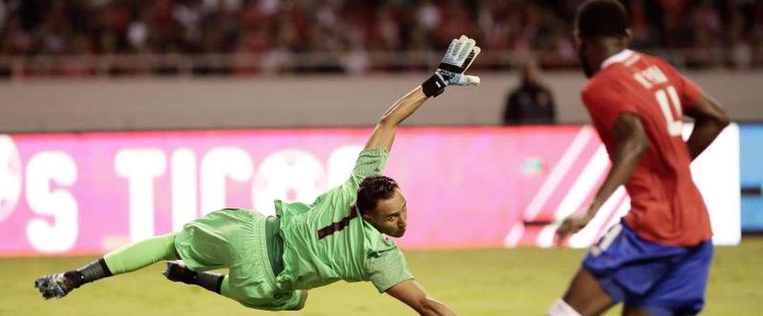 Alvarado, conscient du talent de Navas. EFE  gardien de but au LD Alajuelense