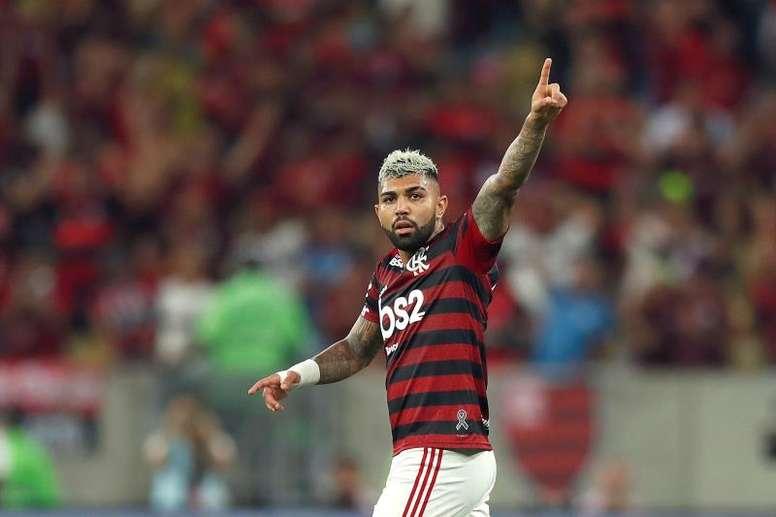Árbitro expulsou Gabigol por palavrão e Flamengo não pode recorrer. EFE/Marcelo Sayão/Arquivo