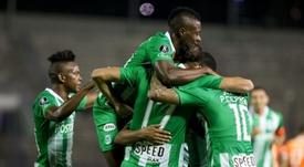 Atlético Nacional deberá visitar a Deportivo Pasto. EFE/Cristian Hernández