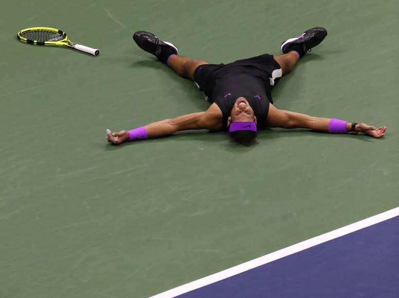 Rafael Nadal tras ganar el partido. EFE/EPA/Brian Hirschfeld