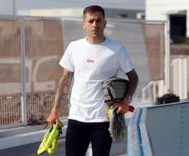Rubén Peña ve buen trabajo, pero sin resultados. EFE