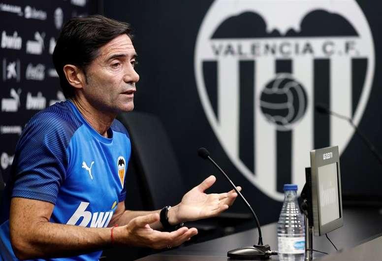 Marcelino habló de su tormentosa salida del Valencia. EFE