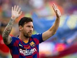 Messi dans le groupe du Barça pour Dortmund. EFE