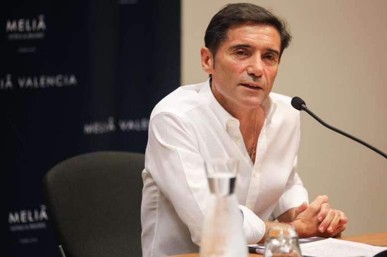 El técnico recordó su paso como entrenador del Valencia. EFE