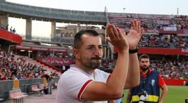 Diego Martínez, con los pies en el suelo tras la jornada 9. EFE