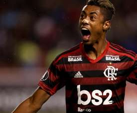Bruno Henrique amassa Corinthians com hat-trick. EFE/José Jácome/Archivo