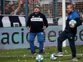 Maradona terá público em peso. EFE/Demian Alday