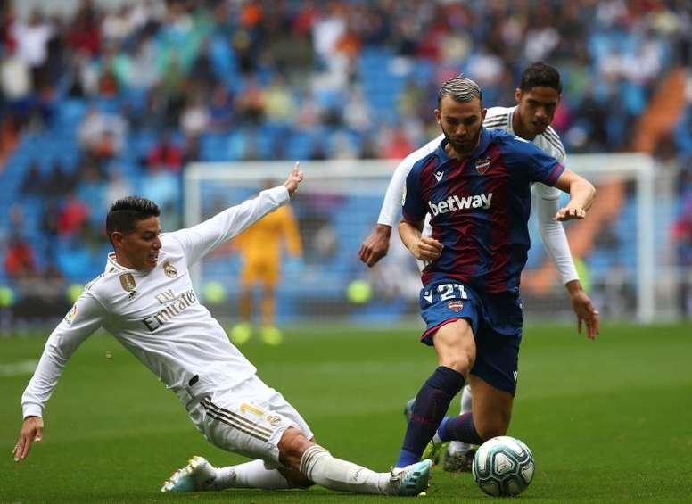 Solo faltaba por estrenarse Mayoral, y marcó al Real Madrid. EFE