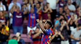 Ansu Fati animó una noche loca en el Camp Nou. EFE