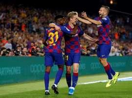 O Barça segue uma jóia ganesa. EFE/Toni Albir