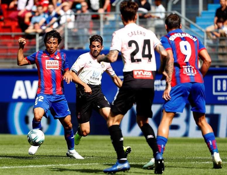 Inui cumplió 100 partidos con el Eibar. EFE
