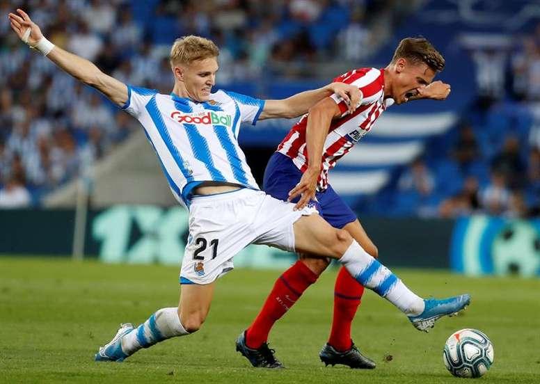 Sube Odegaard y bajan el Atlético y Joao Félix. EFE