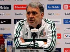México, concentrada bajo las órdenes del 'Tata' Martino. EFE